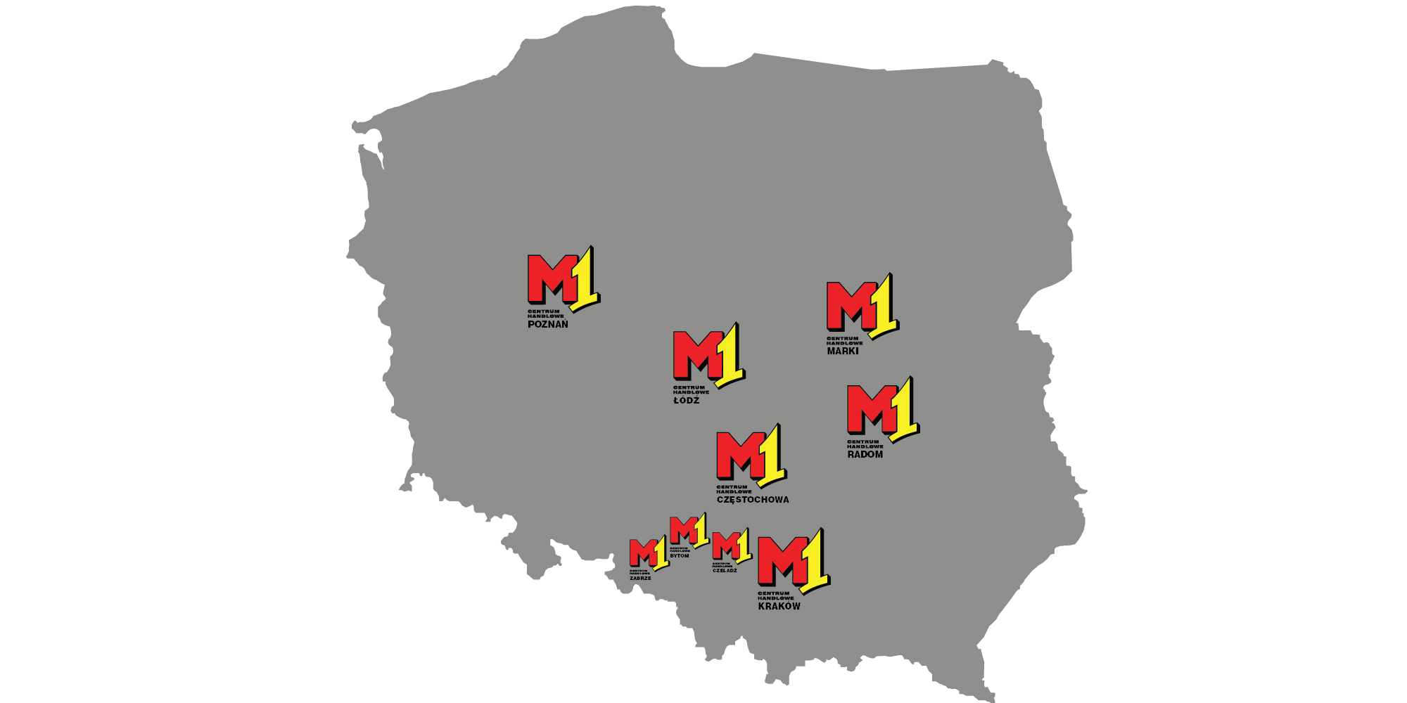 M1 locations map Poland